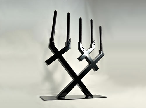 Geometric Candelabra: Chandelier TAIJITU by Barnabé Ribay in main home furnishings  Category