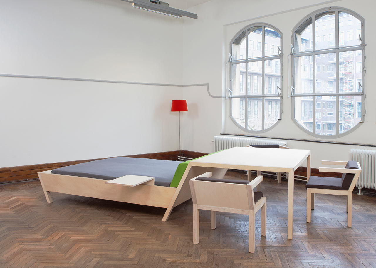 Small Space Solution: Bed'nTable by Erik Griffioen