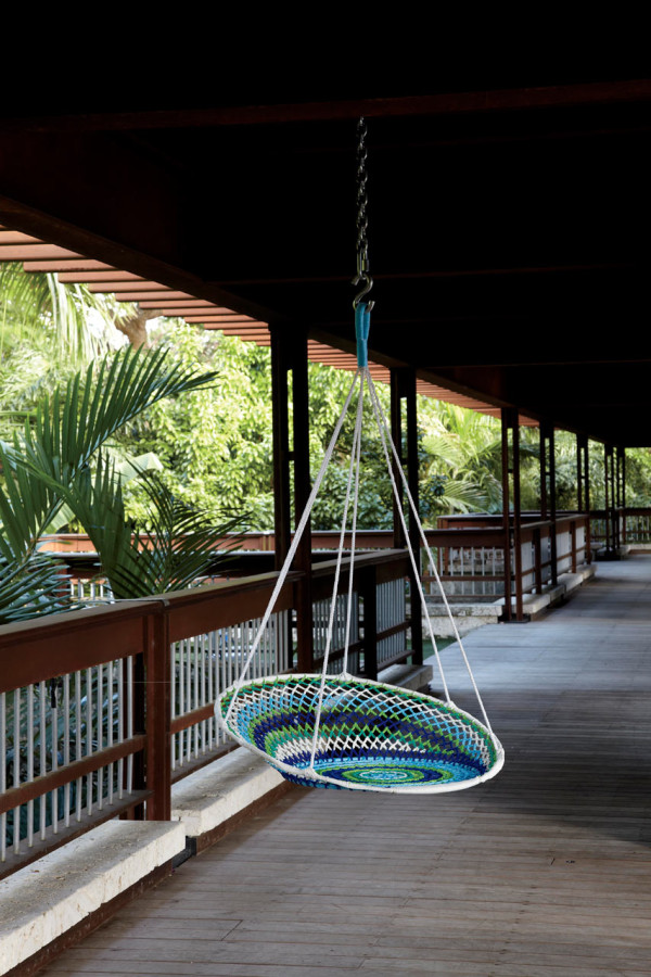 Indoor/Outdoor Swing: The Novogratz Brasil Collection for CB2 in main home furnishings  Category