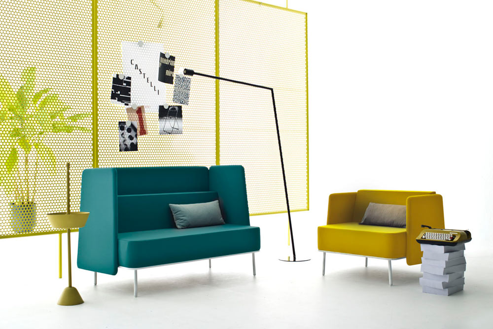 Modern office furniture from castelli design milk for Modern office area
