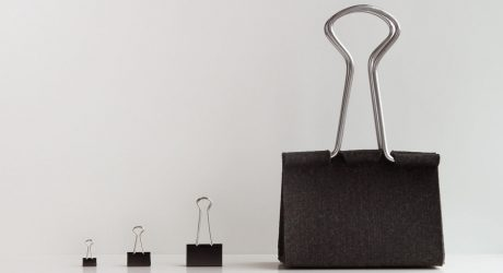 A Bag That Looks Like A Giant Binder Clip by Peter Bristol