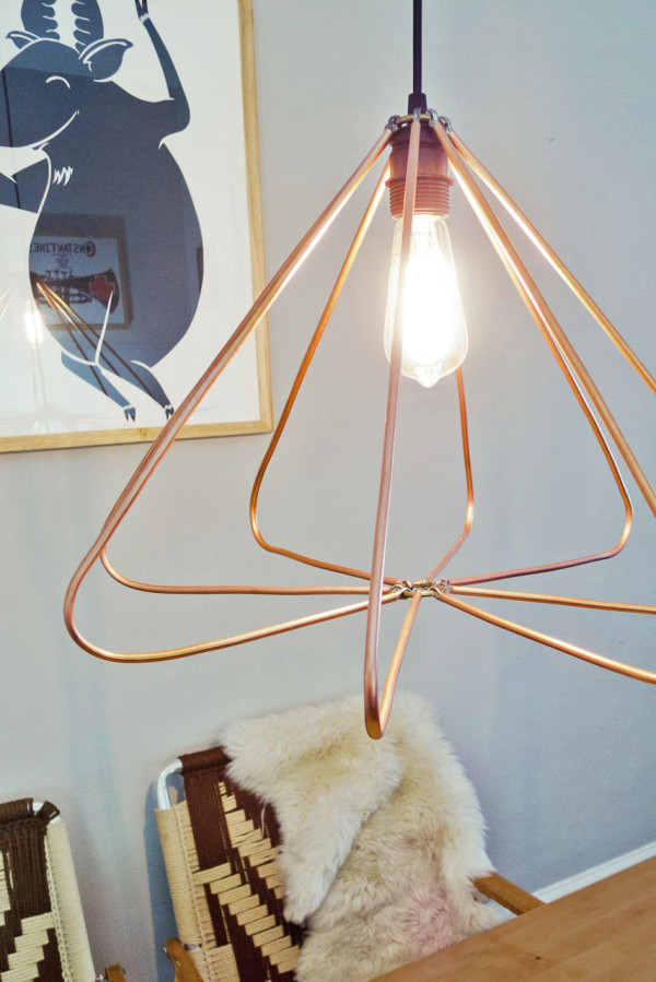 Make It Modern DIY Copper Geometric Pendant Lamp