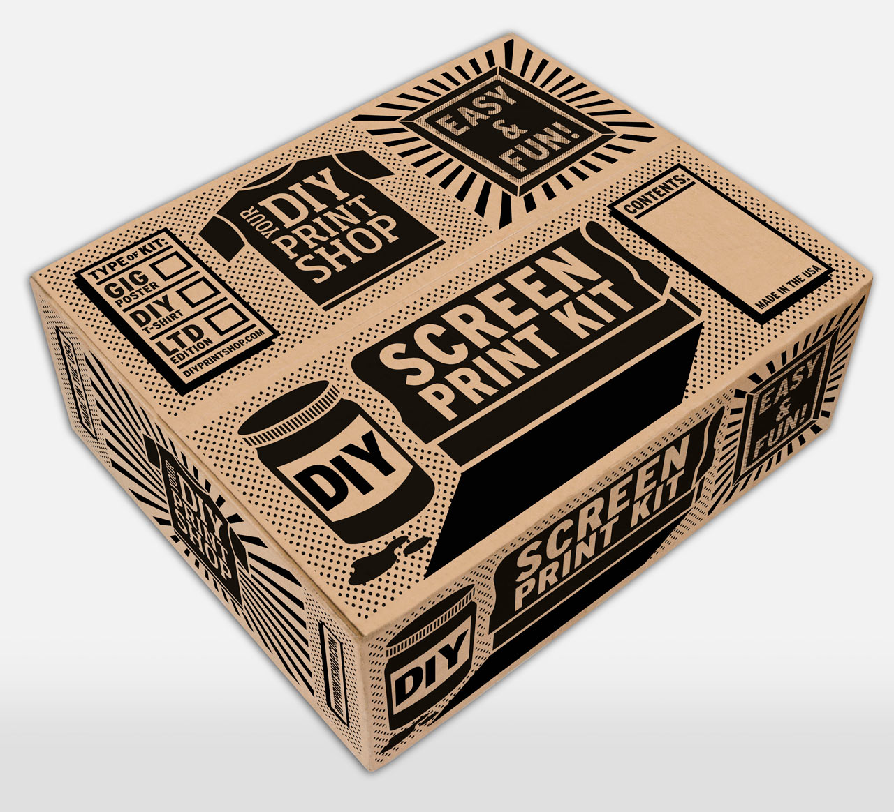 Diy Screen Printing Kits From Diy Print Shop Design Milk