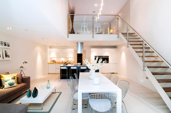 North london townhouse interior design by lli design for London interior designers directory