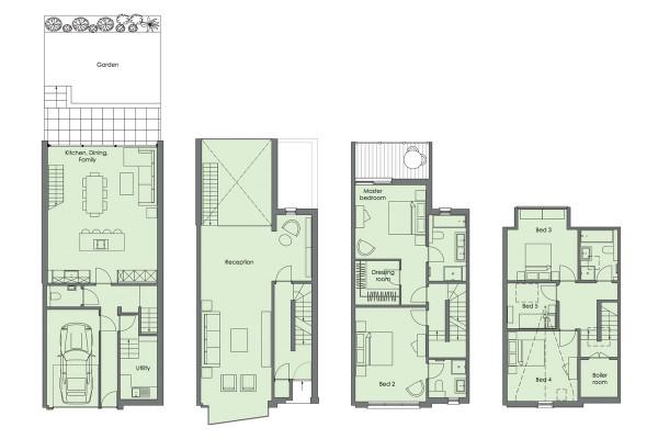 North London Townhouse Interior Design by LLI Design - Design Milk