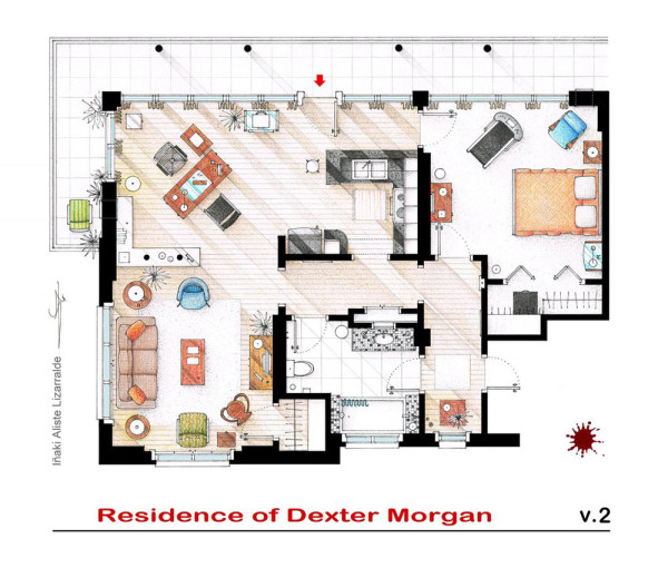 10 of our favorite tv shows home apartment floor plans design milk - Roseanne House Plans