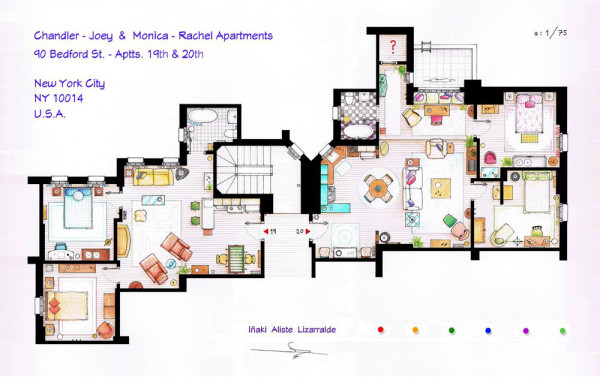 Layout of charmed house