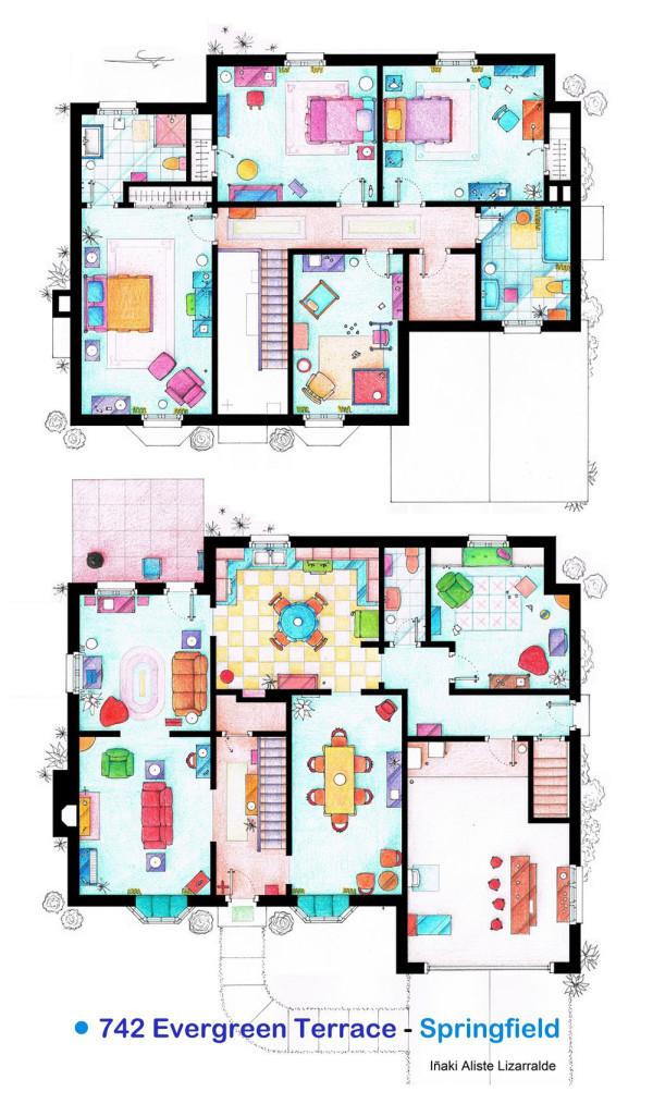 10 of Our Favorite TV Shows Home & Apartment Floor Plans - Design Milk