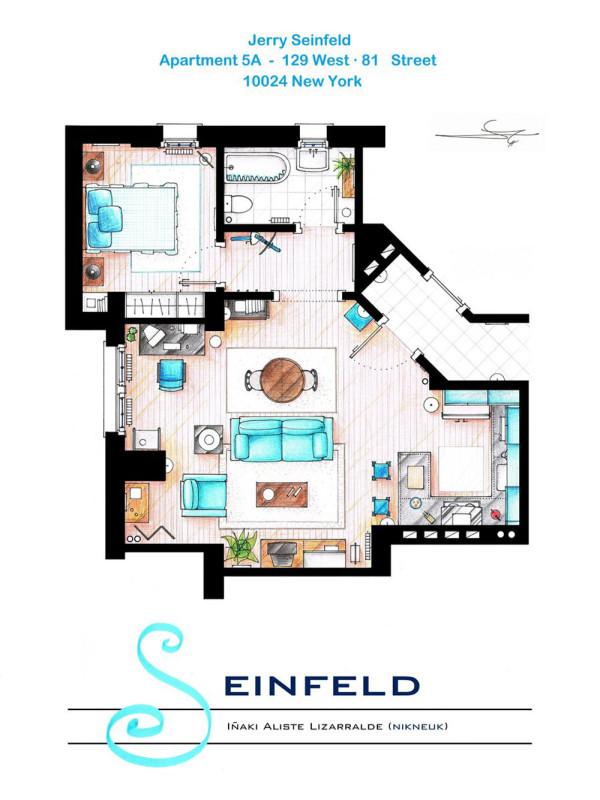 Lizarralde TV Floorplan 8 Seinfeld