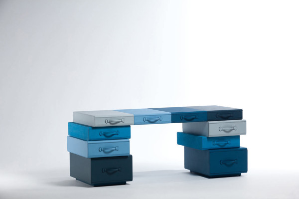 Travel Towers: Leather Suitcase Furniture by Maarten De Ceulaer in main home furnishings art  Category