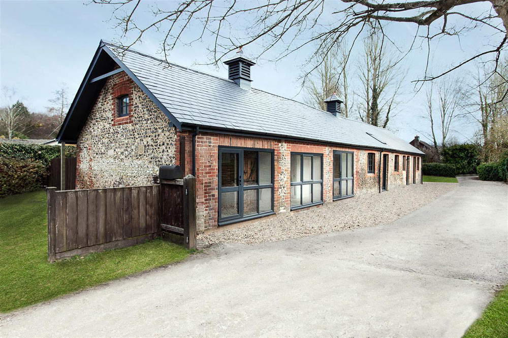 Old horse stables become a modern home with character design milk for How to become a designer for homes