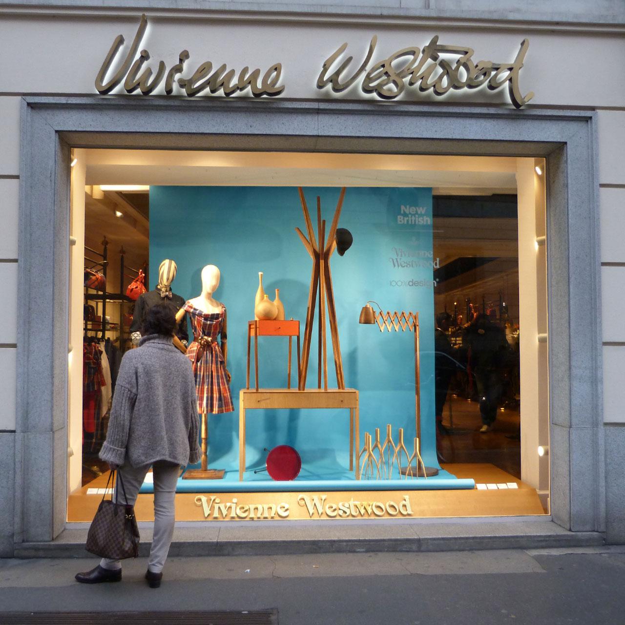 Milan 2013 new british at vivienne westwood design milk for Milano design shop