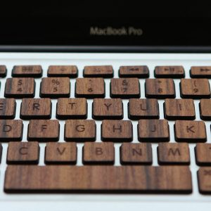 Macbook Wood Keyboard from RAWBKNY