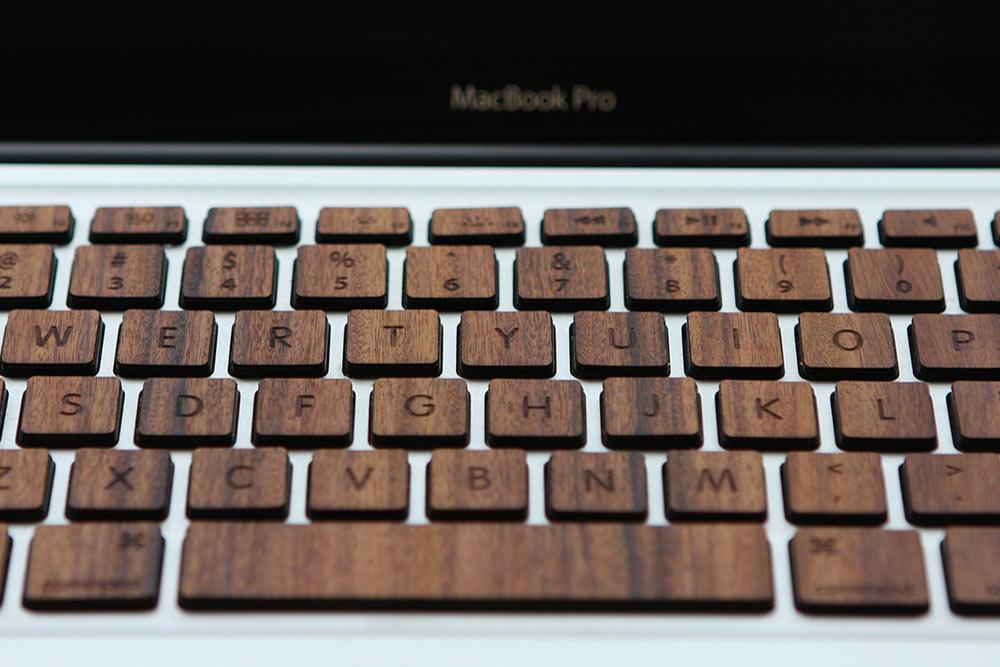 Macbook Wood Keyboard from RAWBKNY