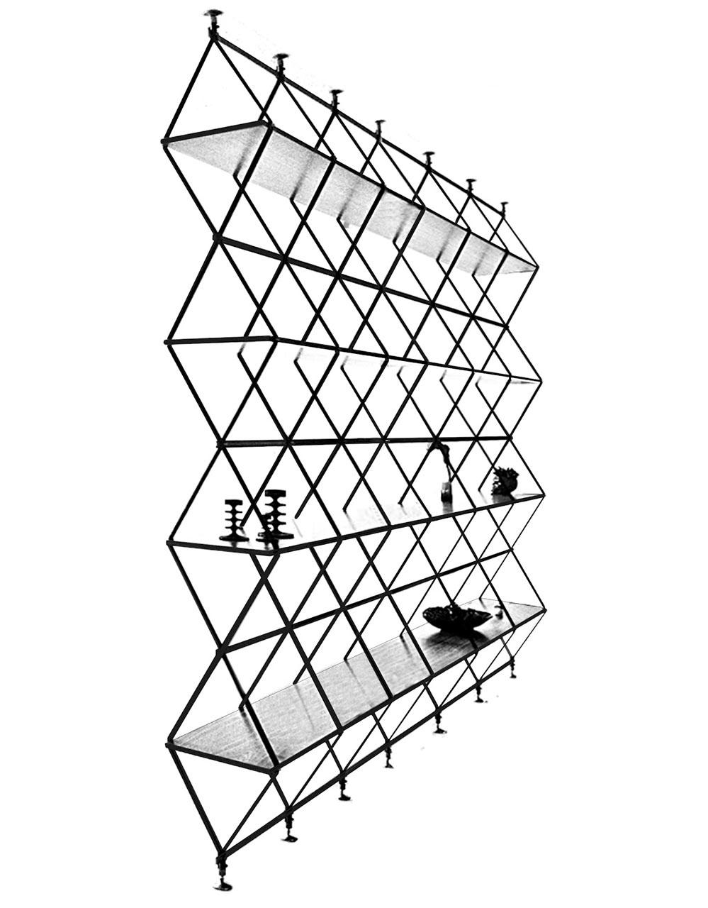 Romboidale-bookshelf-divider-solution-pietro-russo-libreria