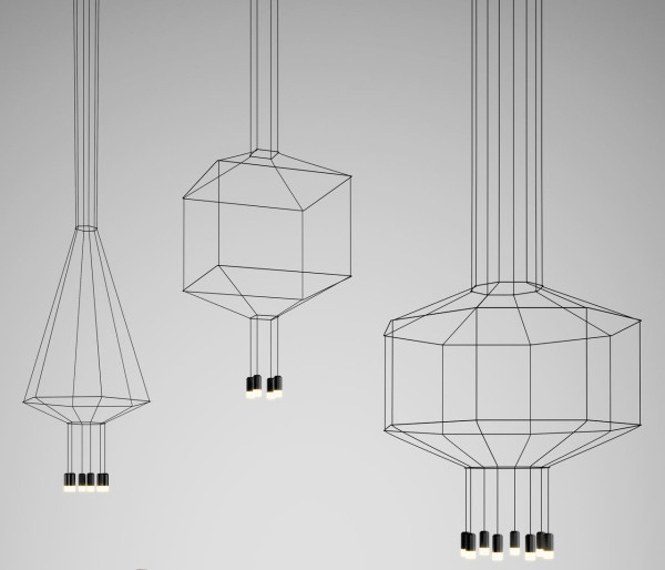 Lighted Line Drawings: WIREFLOW by Arik Levy for Vibia in main home furnishings  Category