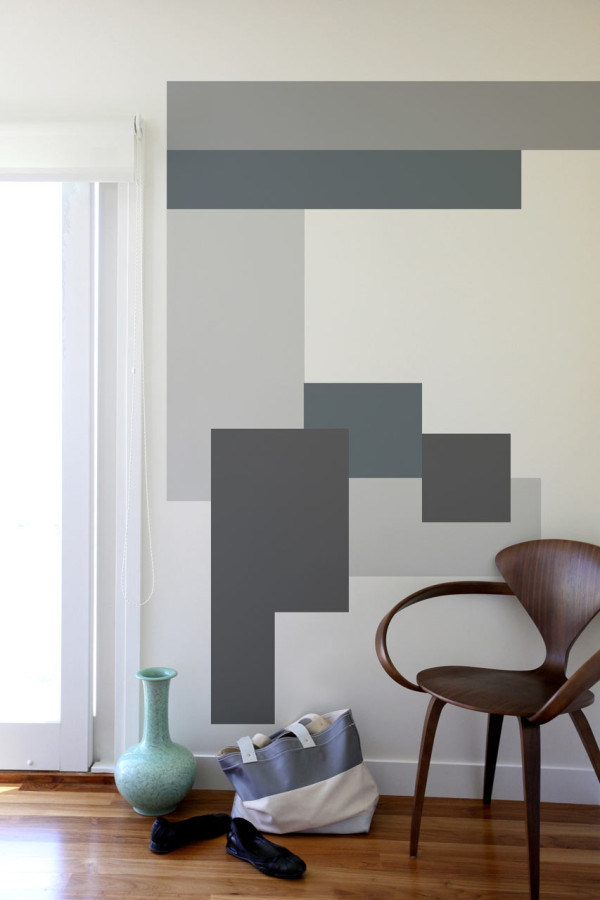 blik-mina-javid-wall-decals-modern-geometric-gray & Color Blocking Wall Decals by Mina Javid for Blik - Design Milk