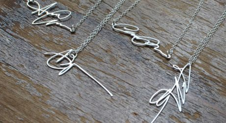 Custom Signature Necklaces by Brevity