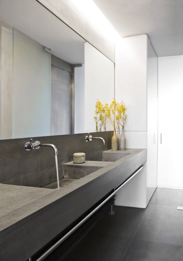 Fancy concrete bathroom Ochre