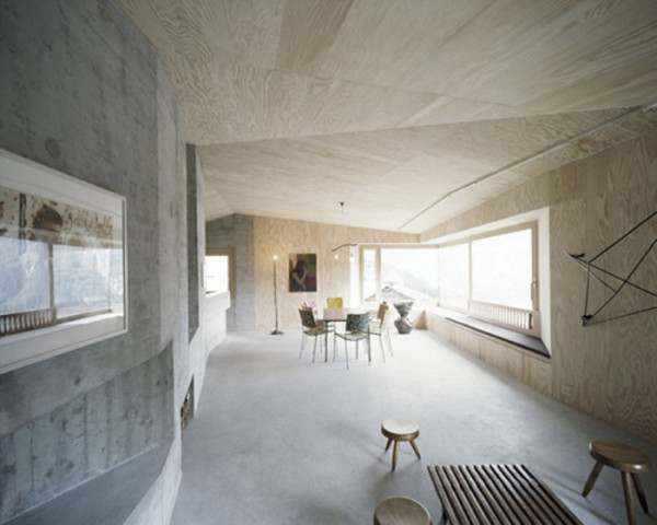 Beautiful Concrete Dining AFGH Architects