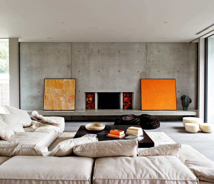 interior design ideas: 12 inviting concrete interiors - design milk - Wohnzimmer Industrial Style