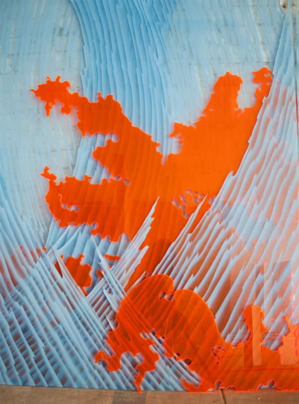 jeremy-earhart-sculpture-orange-waves-detail