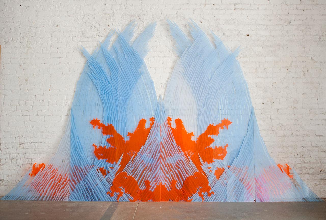 jeremy-earhart-sculpture-orange-waves