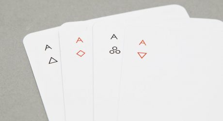 Minimalist Iota Playing Cards by Joe Doucet