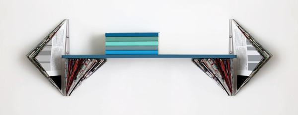 Magazine wall shelf