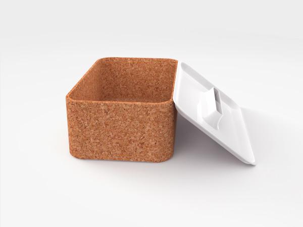 cork modern tissue holder