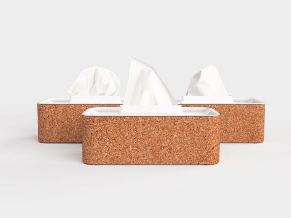 modern cork tissue box