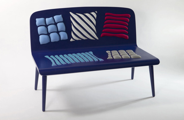 Poppins: Op Art Bench from Alessandra Baldereschi in home furnishings Category