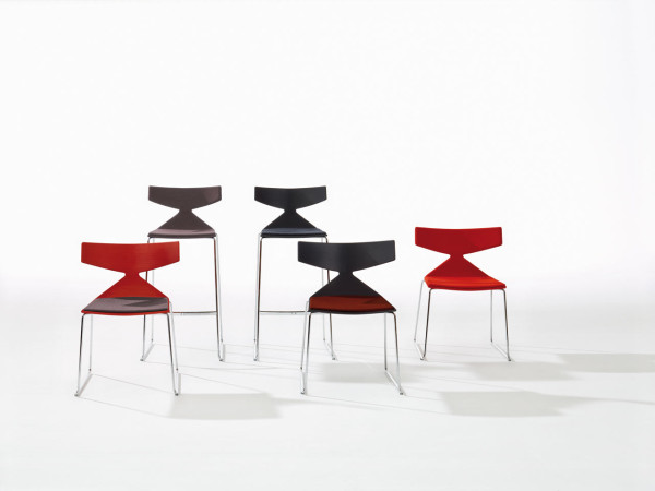 Saya chair, upholstered, by Lievore Altherr Molina