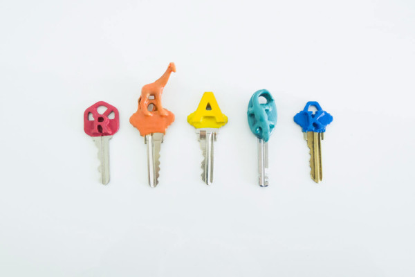 Make It Modern: DIY Colorful Plasti Dip Key Tops in style fashion main  Category