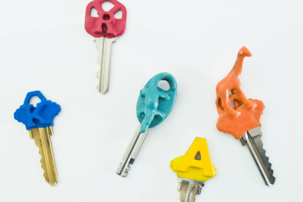 DIY Plasti Dip Key Toppers