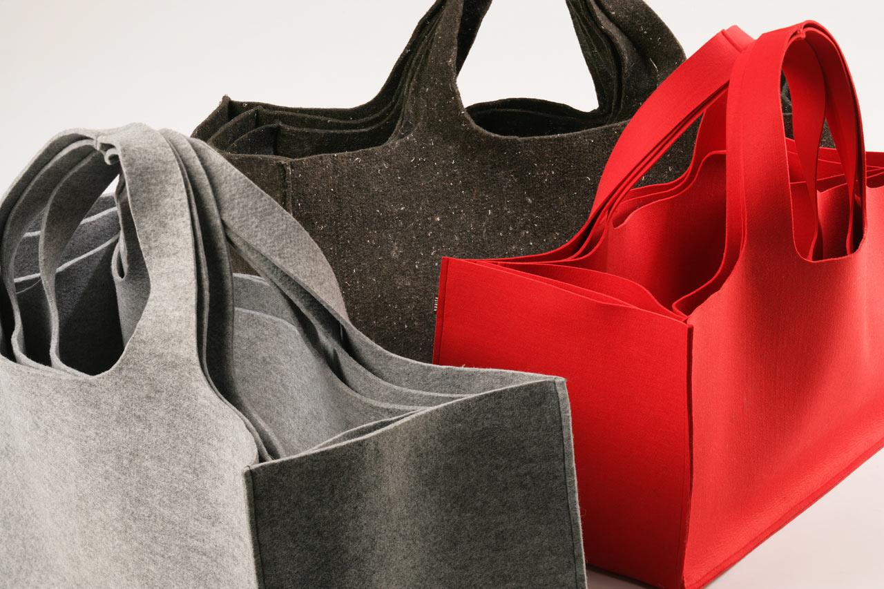 Torbuschka Eco-Felt Bags by Kaaita