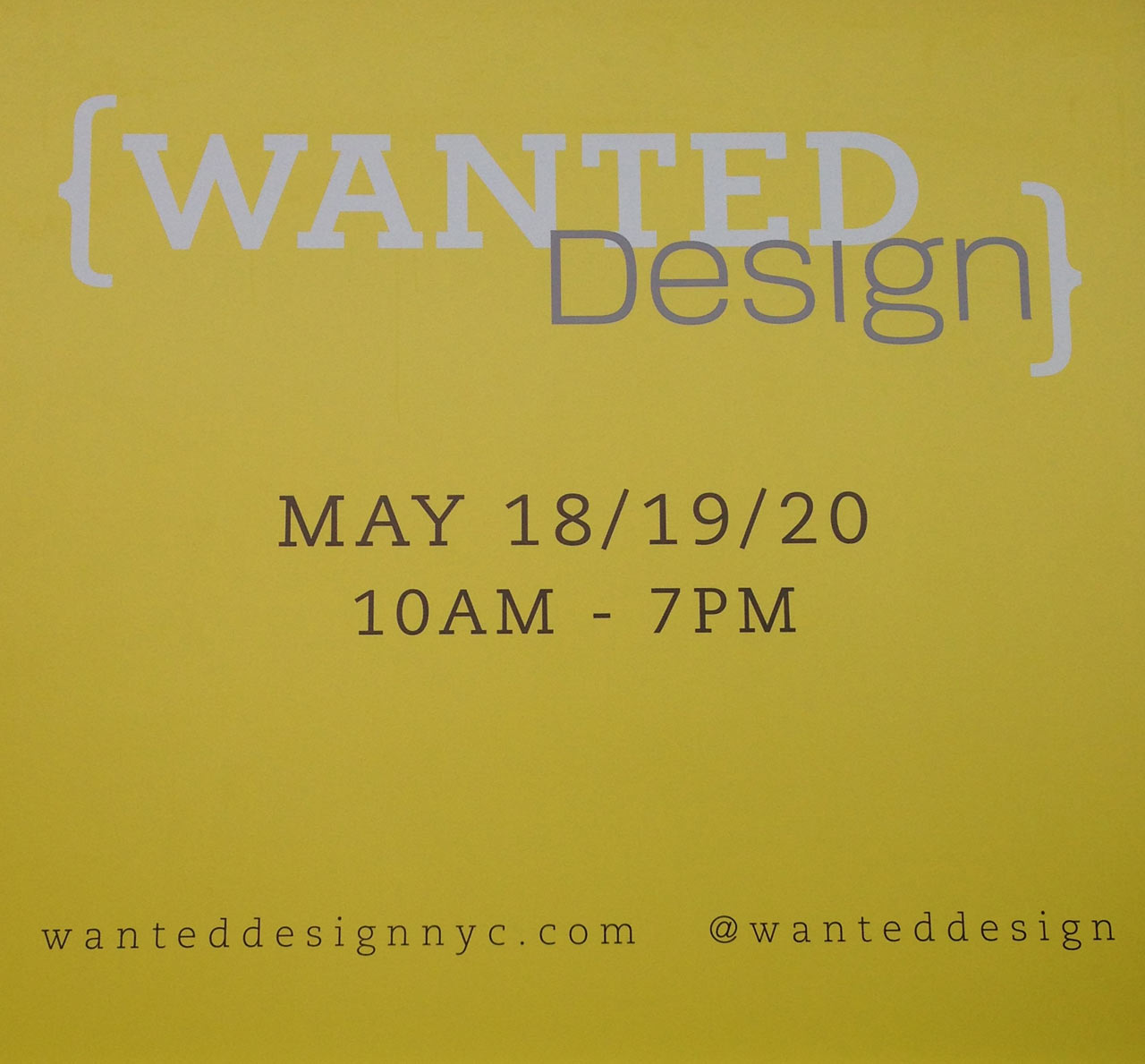 NYCxDesign 2013: WantedDesign Part 1