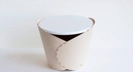 Wrap Side Table & Storage Bin by Oato