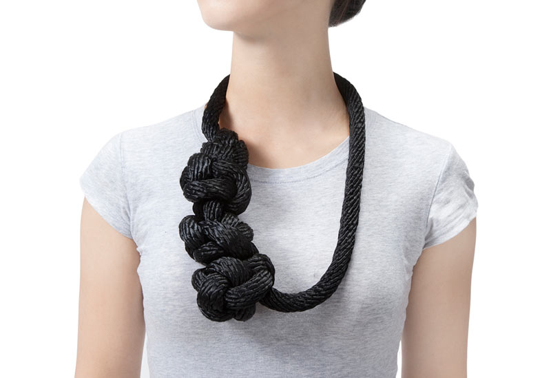 Black Knot Jewelry by Yuni Kim Lang