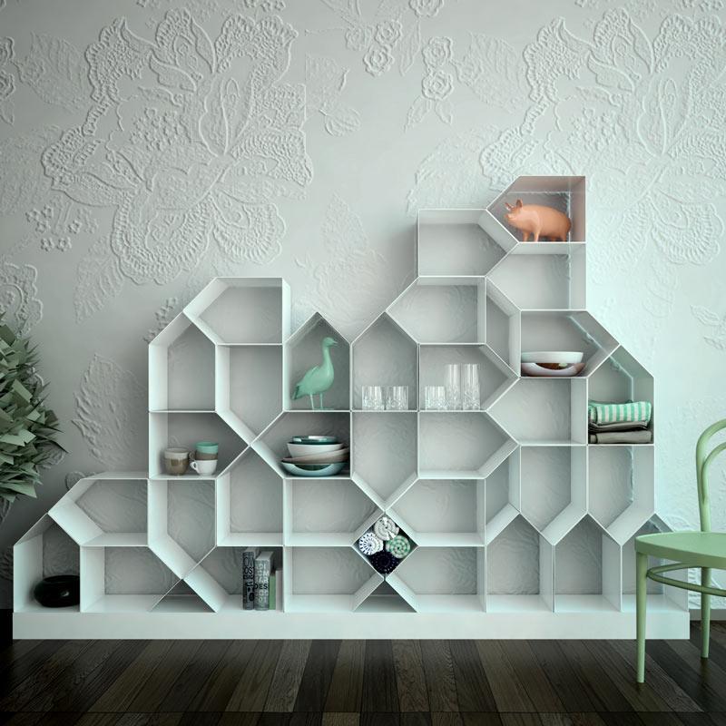 baron shelves shop modular milia red bookshelf and bookcases en knoll