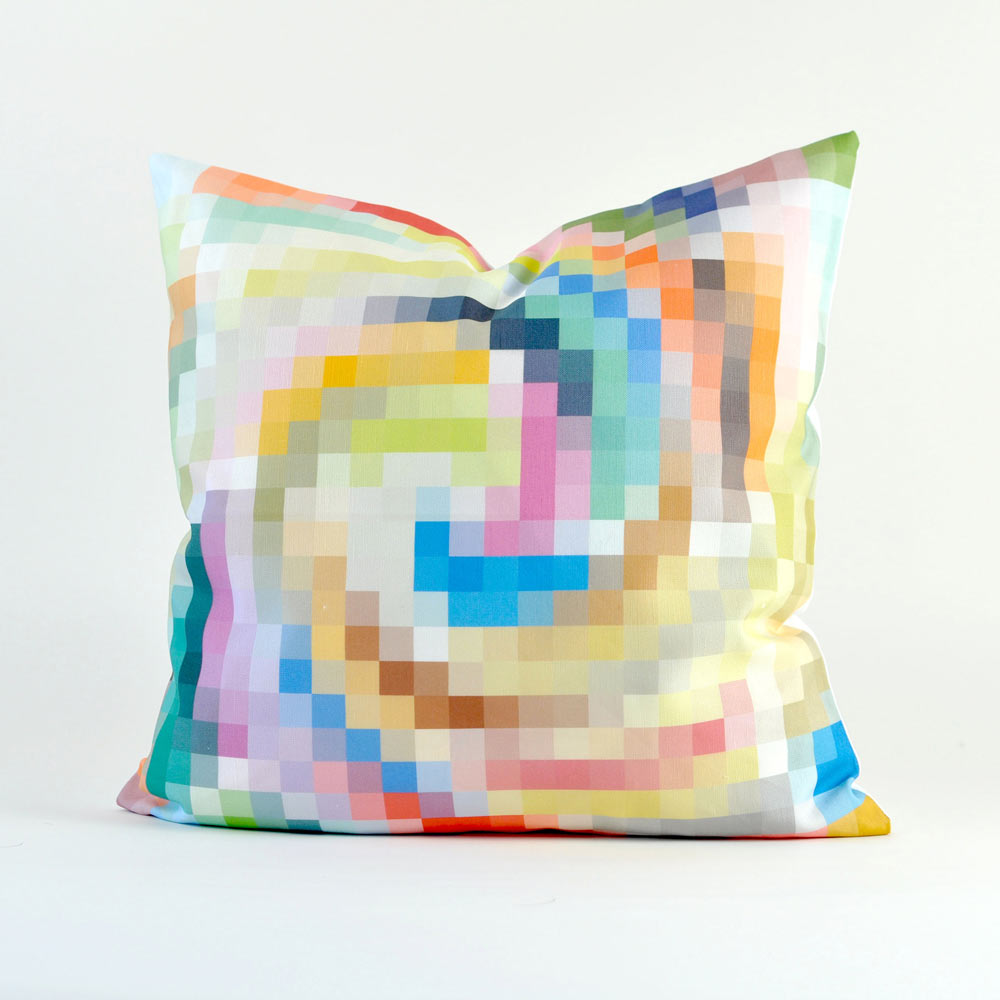 Modern Graphic Pillow : Digital Rainbows: Buttercup Press Pillows - Design Milk