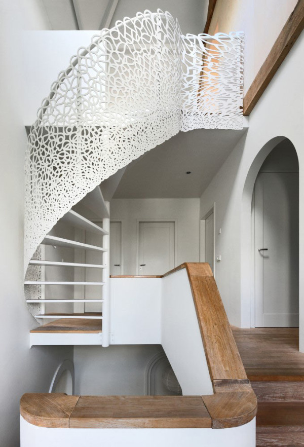 Stunning Lattice Staircase: House N by Maxwan in main architecture  Category