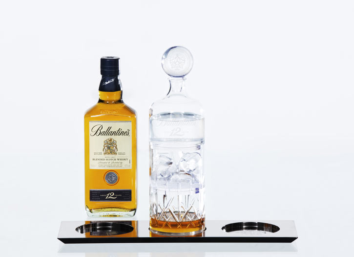 Lee Broom Helps Tell Ballantine's 12 Story of Serve
