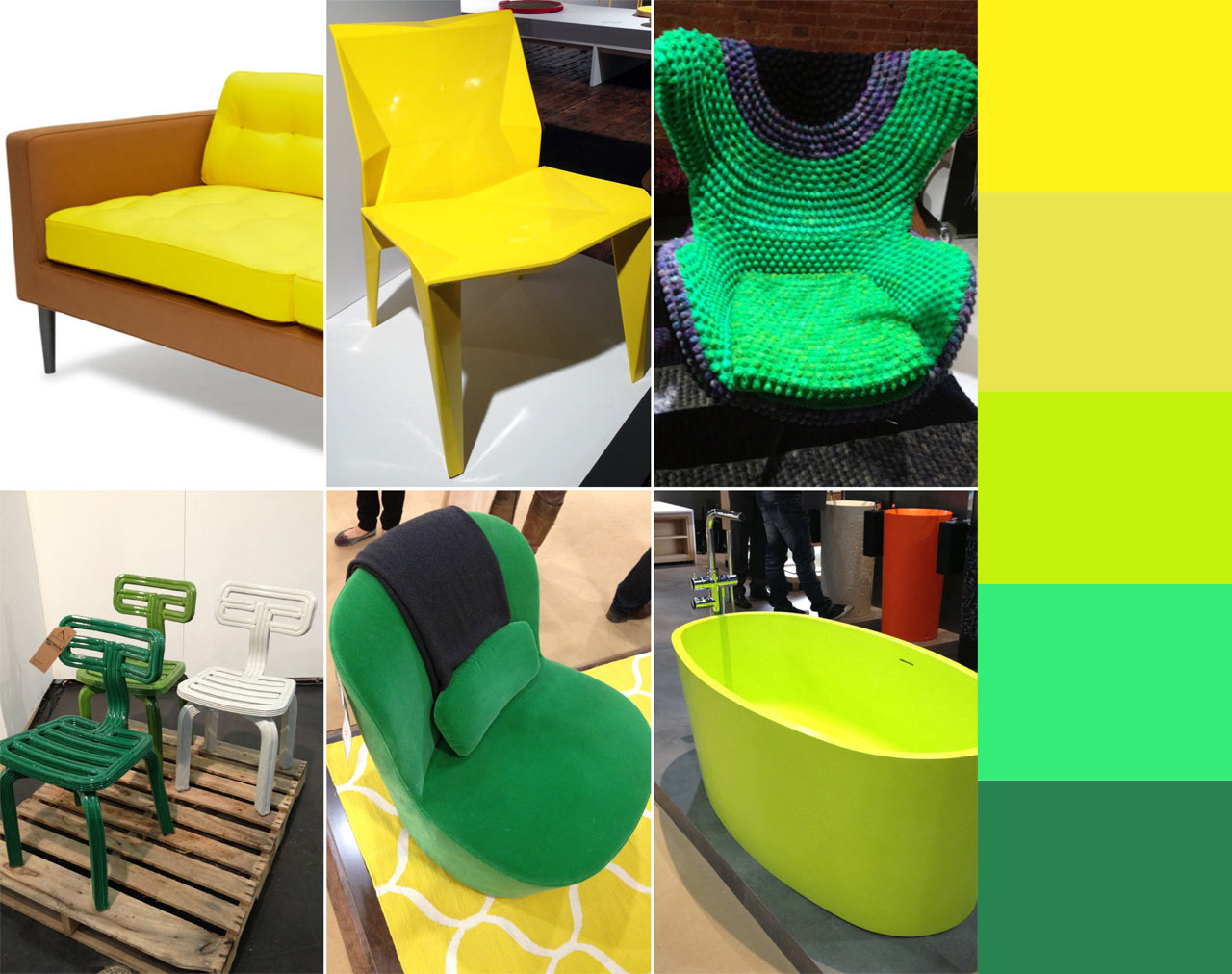 Color Trends From ICFF 2013: Green and Yellow