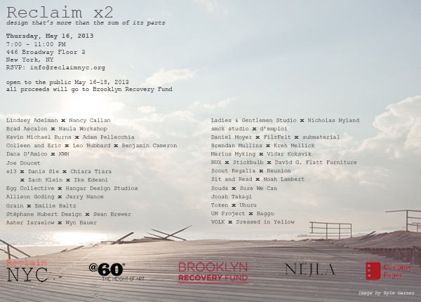 Reclaim NYC x2 Charity Exhibition and Auction