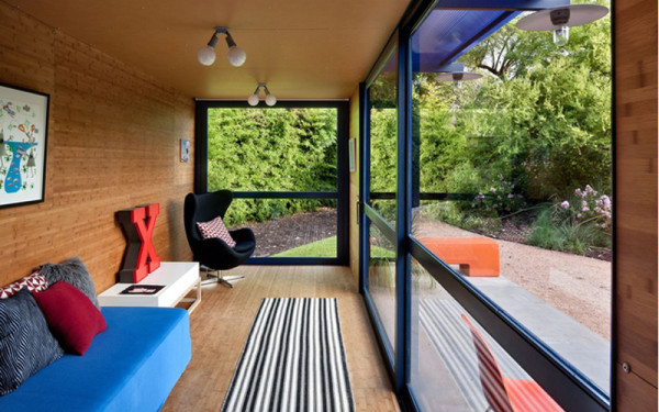 Shipping Container House Interior. Photo by Chris Cooper 12 Homes Made From Shipping Containers  Design Milk