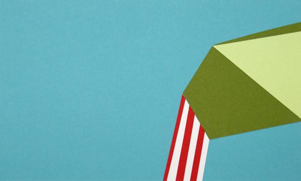 "Sat, Nov 27, 2010, 7:01pm, 2012 - Collage on paper 6"" X 10"""