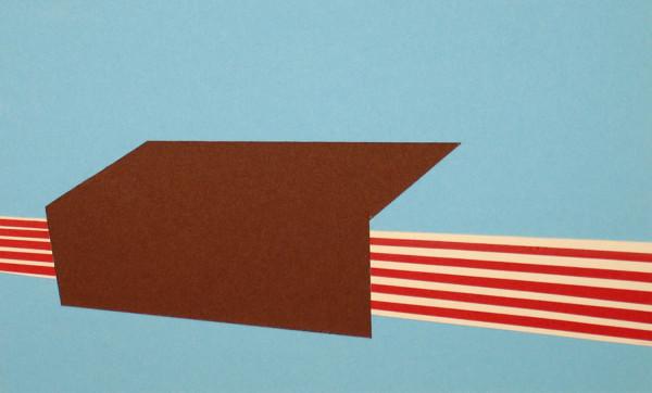 "Sun, Nov 14, 2010, 7:21pm, 2012 - Collage on paper 6"" X 10"""
