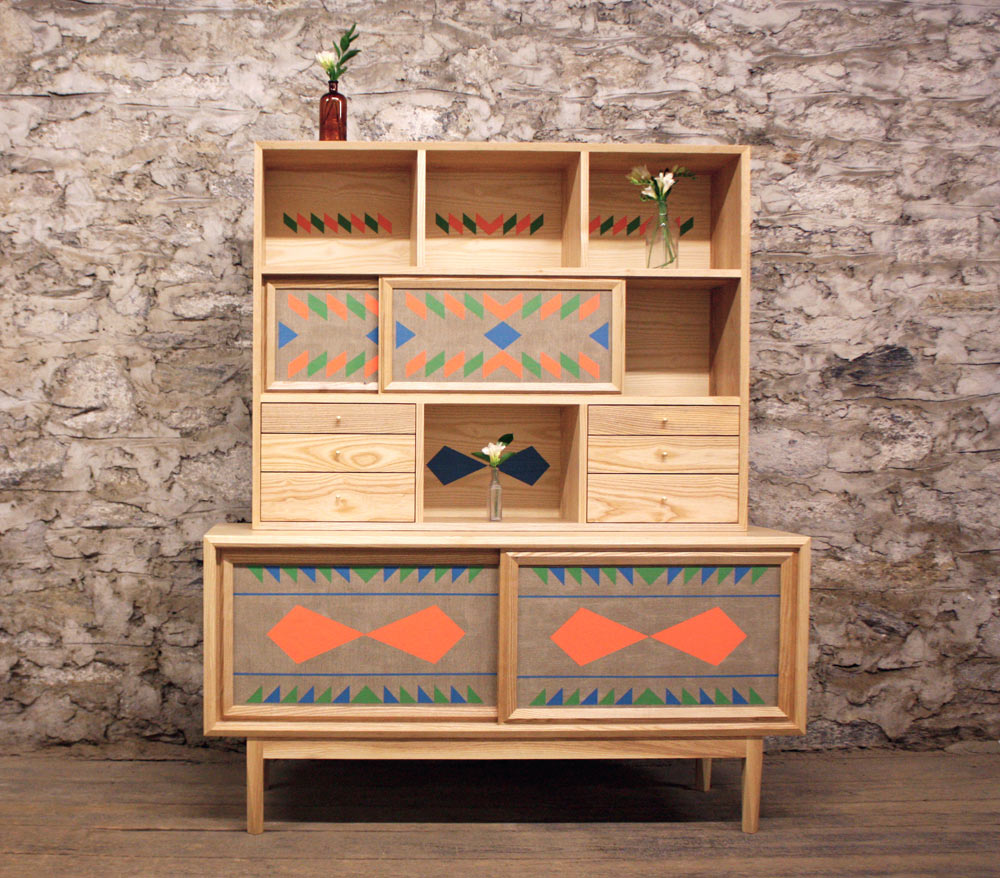 Hand painted geometric furniture by volk