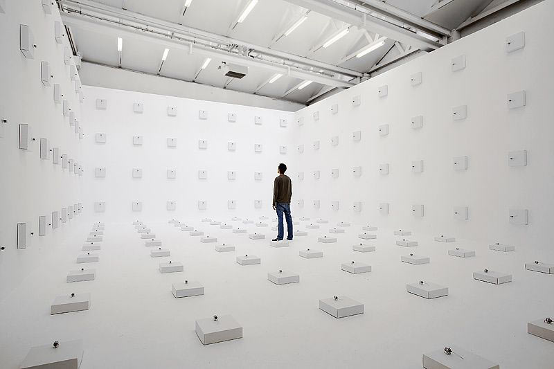 Zimoun Creates A Roar of Applause With Wires and Carboard
